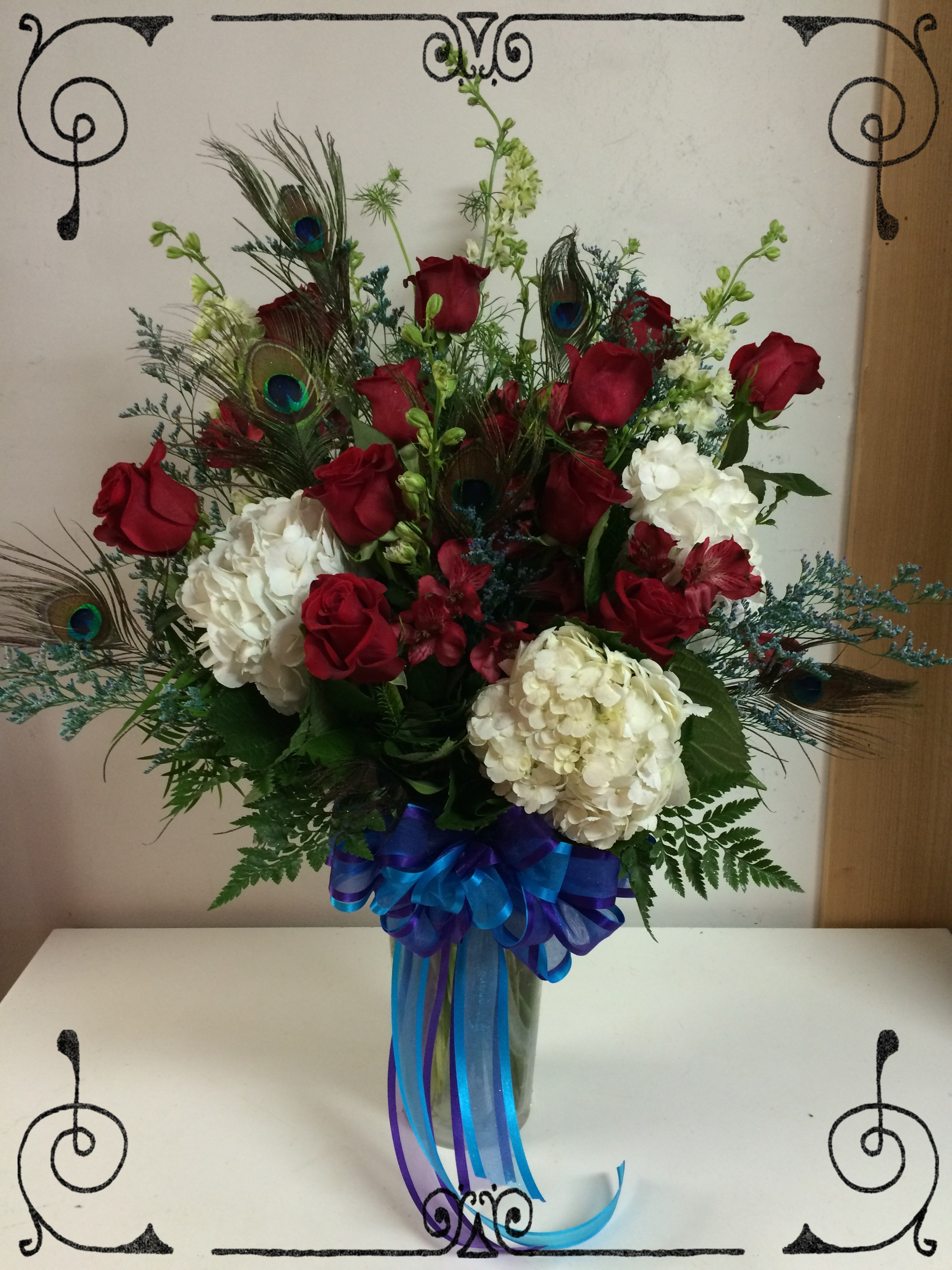 bud vase floral arrangements of anniversary flowers delivery elk city broadway flowers pertaining to peacock roses hydrangeas