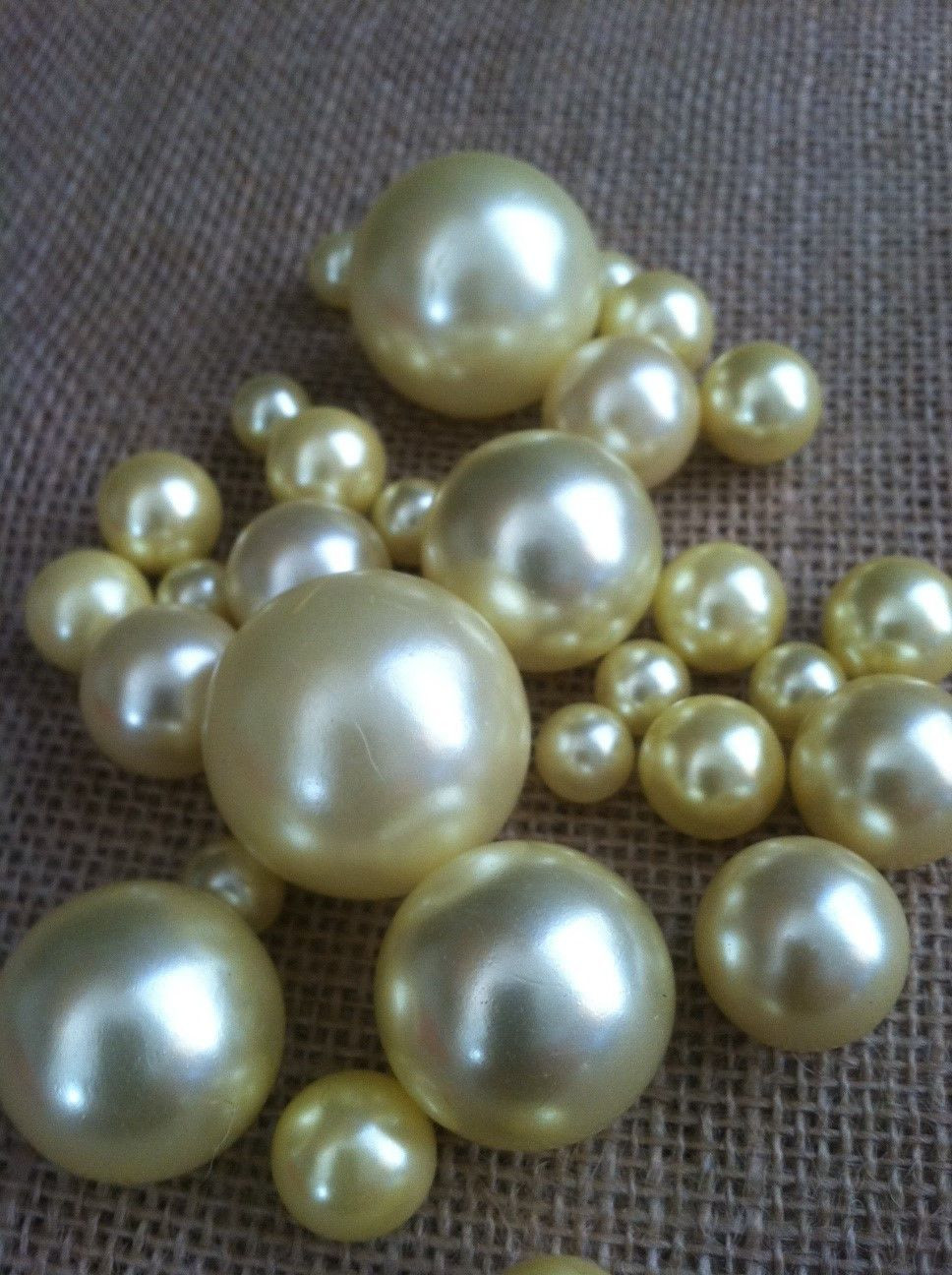 Bulk Vase Fillers Of Light Yellow Pearls for Floating Pearl Centerpieces Jumbo Pearls for Light Yellow Pearls for Floating Pearl Centerpieces Jumbo Pearls Vase Fillers Scatters Confetti
