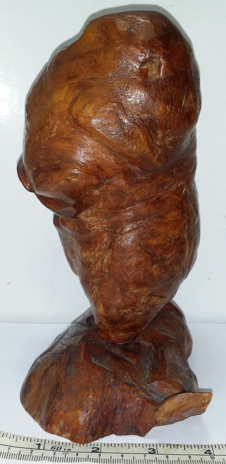 burl wood vase of vintage mid century brutalist sculpted burl wood vase or candle intended for vintage mid century brutalist sculpted burl wood vase or candle holder 7 7 tall 2 of 12 vintage