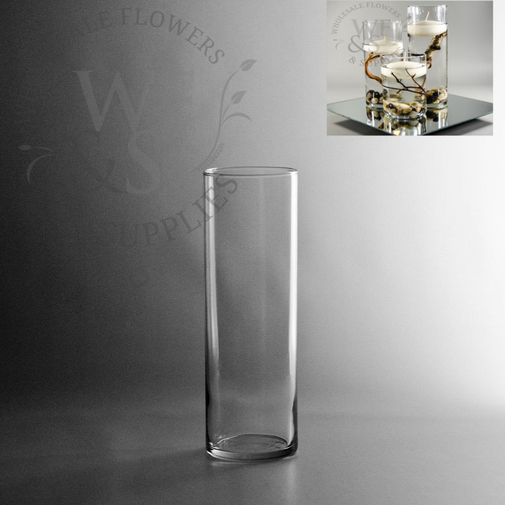 buy cheap cylinder vases in bulk of glass cylinder vases wholesale flowers supplies with regard to 10 5 x 3 25 glass cylinder vase