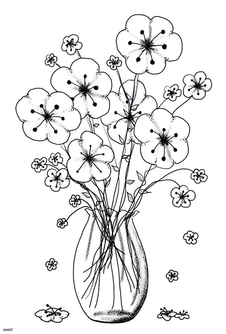buy flower vase of best flower vase drawing and colouring cool vases flower vase throughout best flower vase drawing and colouring cool vases flower vase coloring page pages flowers in a
