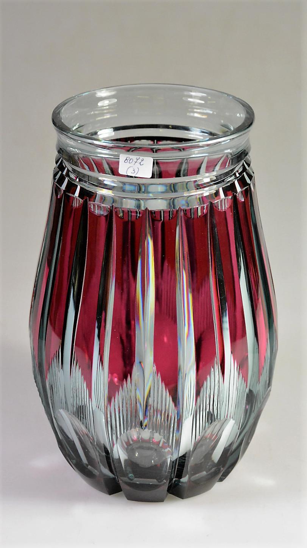 buy red glass vase of val st lambert vase adp8 vase en cristal bleu pompai doubla rouge pertaining to val st lambert vase adp8 vase en cristal bleu pompai doubla rouge a l