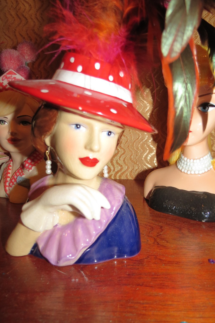 cameo girl head vases sale of 792 best lady head vases images on pinterest half dolls head for head vase