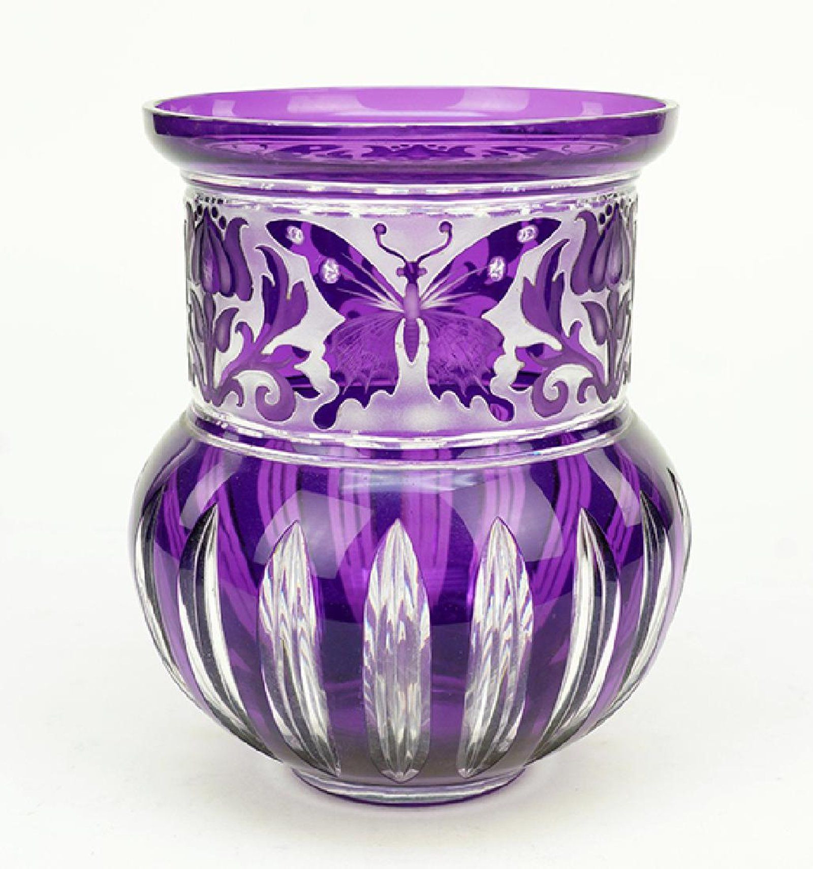 cameo glass vase of a val st lambert vase on glassies belgium val st lambert intended for a val st lambert vase purple cameo glass vase with floral and butterfly decoration
