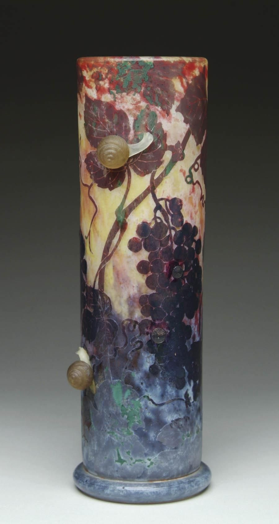 Cameo Glass Vase Of Daum Fra¨res Nancy Applied Acid Etched and Wheel Carved Glass Vase Intended for Daum Fra¨res Nancy Applied Acid Etched and Wheel Carved Glass Vase the Small Applied Snails are Fabulous