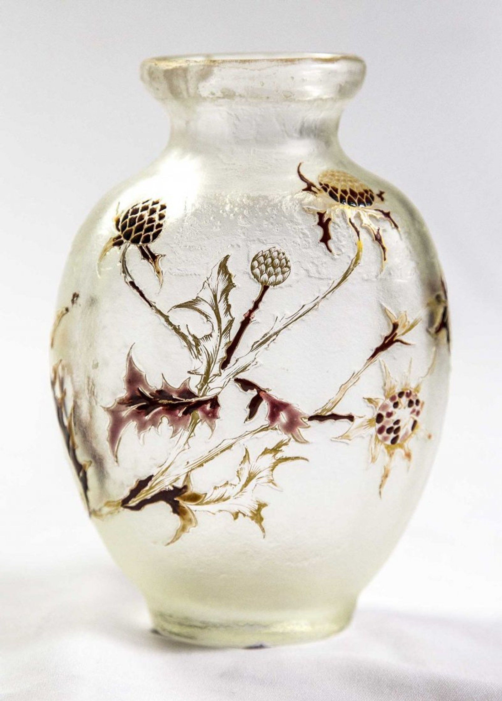 Cameo Glass Vase Of Emile Galla‰ Tri Color Cameo Glass Landscape Vase On Emile Galle Inside Emile Galla‰ Tri Color Cameo Glass Landscape Vase 6