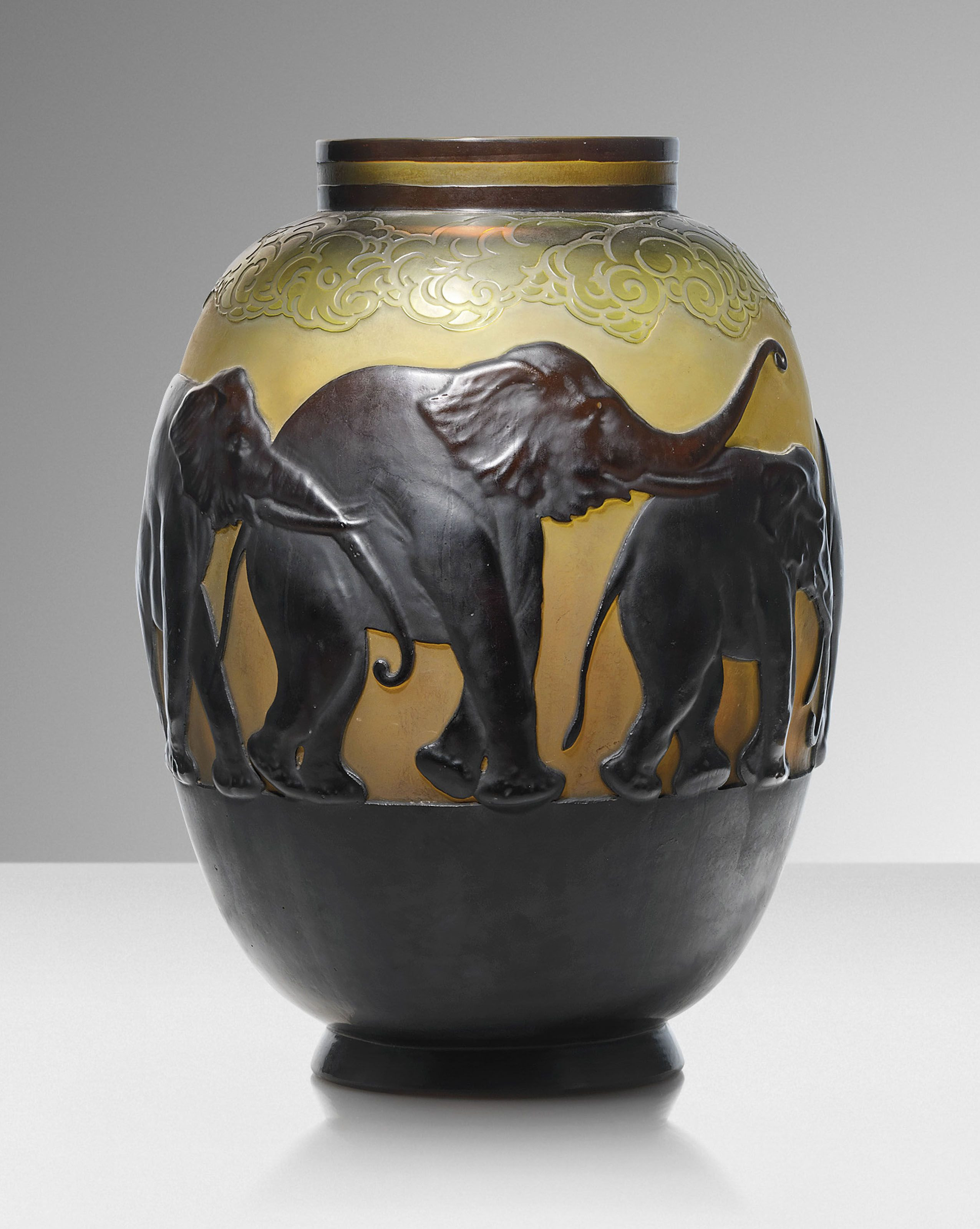 cameo glass vase of galla‰ vase aux a‰la‰phants a mould blown vase circa 1925 all pertaining to galla‰ vase aux a‰la‰phants a mould blown vase circa 1925