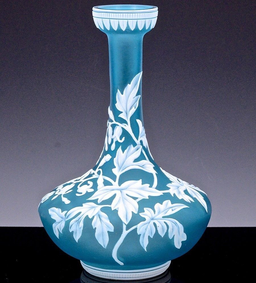 Cameo Glass Vase Of Incredible Quality Victorian Floral Landscape Cameo Cut Glass Vase Throughout Incredible Quality Victorian Floral Landscape Cameo Cut Glass Vase Thomas Webb