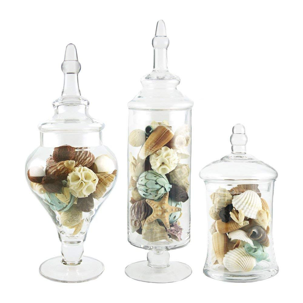 candy bar vases wholesale of amazon com apothecary jar 3 piece set wedding candy buffet home intended for amazon com apothecary jar 3 piece set wedding candy buffet home kitchen