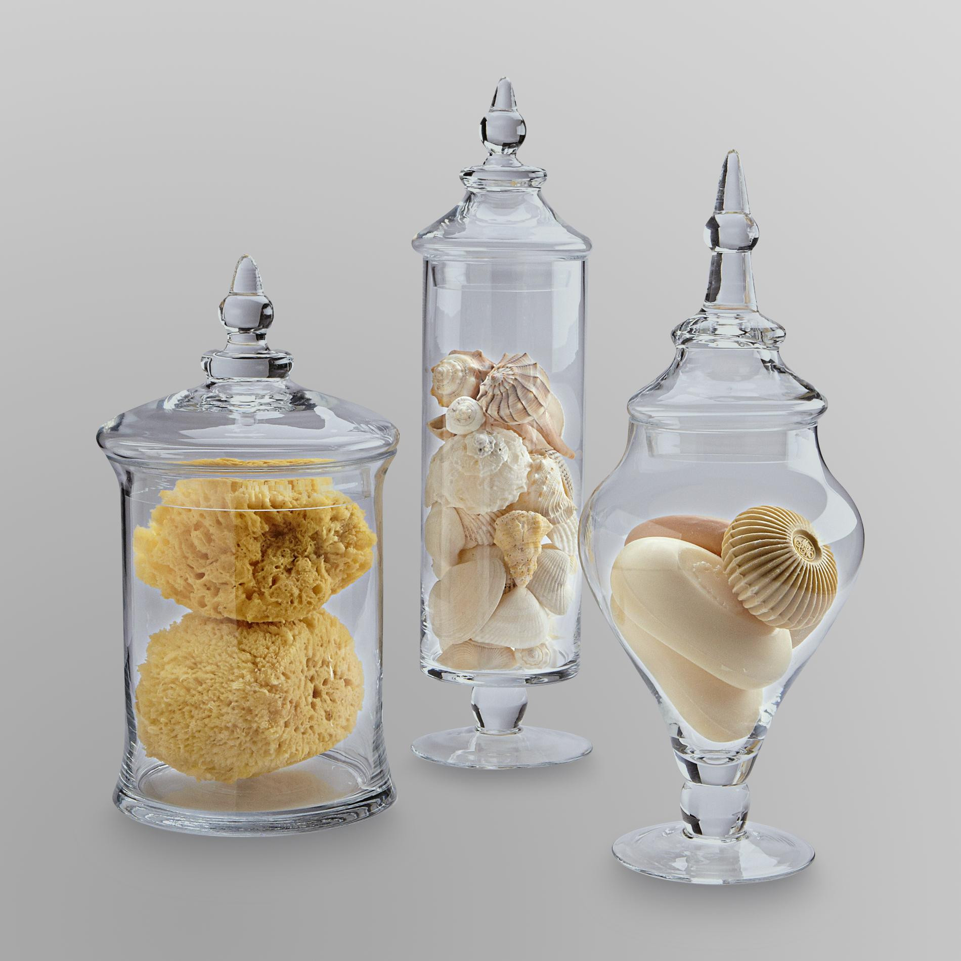 candy buffet vases jars of candy buffet glass jars glass decorating ideas in kmart essential home 3 piece glass apothecary jars only 23 99 reg