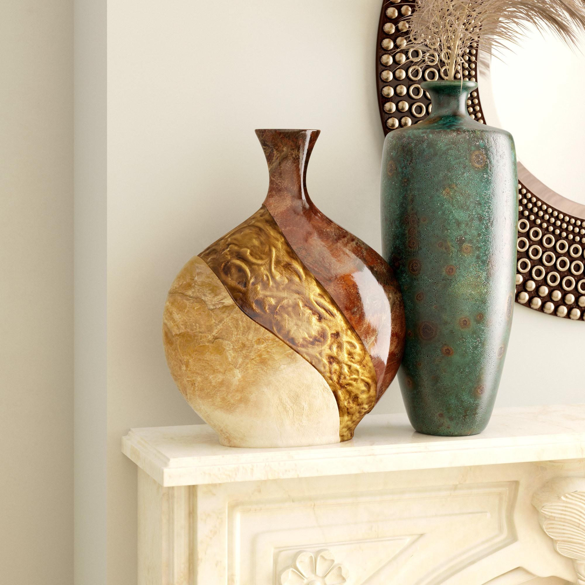 capiz shell vase of world menagerie brahim pot shaped ceramic capiz shell vase in brown for world menagerie brahim pot shaped ceramic capiz shell vase in brown black reviews wayfair