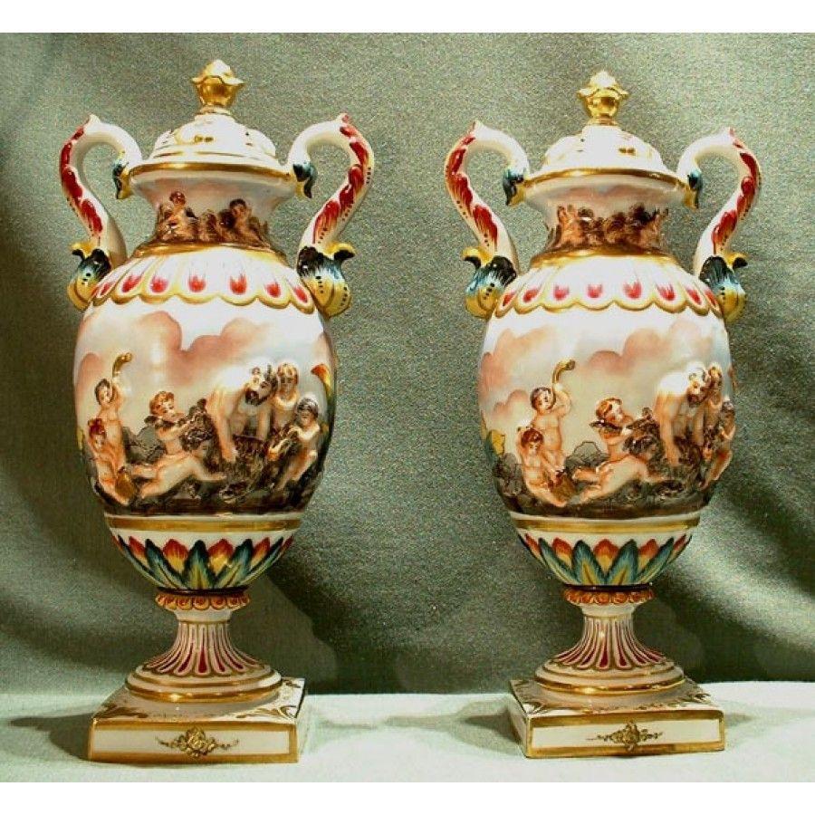 capodimonte flower vase of soldpair of fine capo di monte porcelain vases 19th centur capo regarding soldpair of fine capo di monte porcelain vases 19th centur