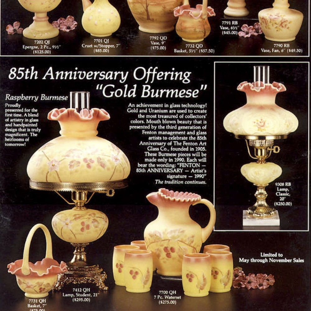 carnival glass vases for sale of fenton catalogs 90s sgs with regard to 1990 candle land june