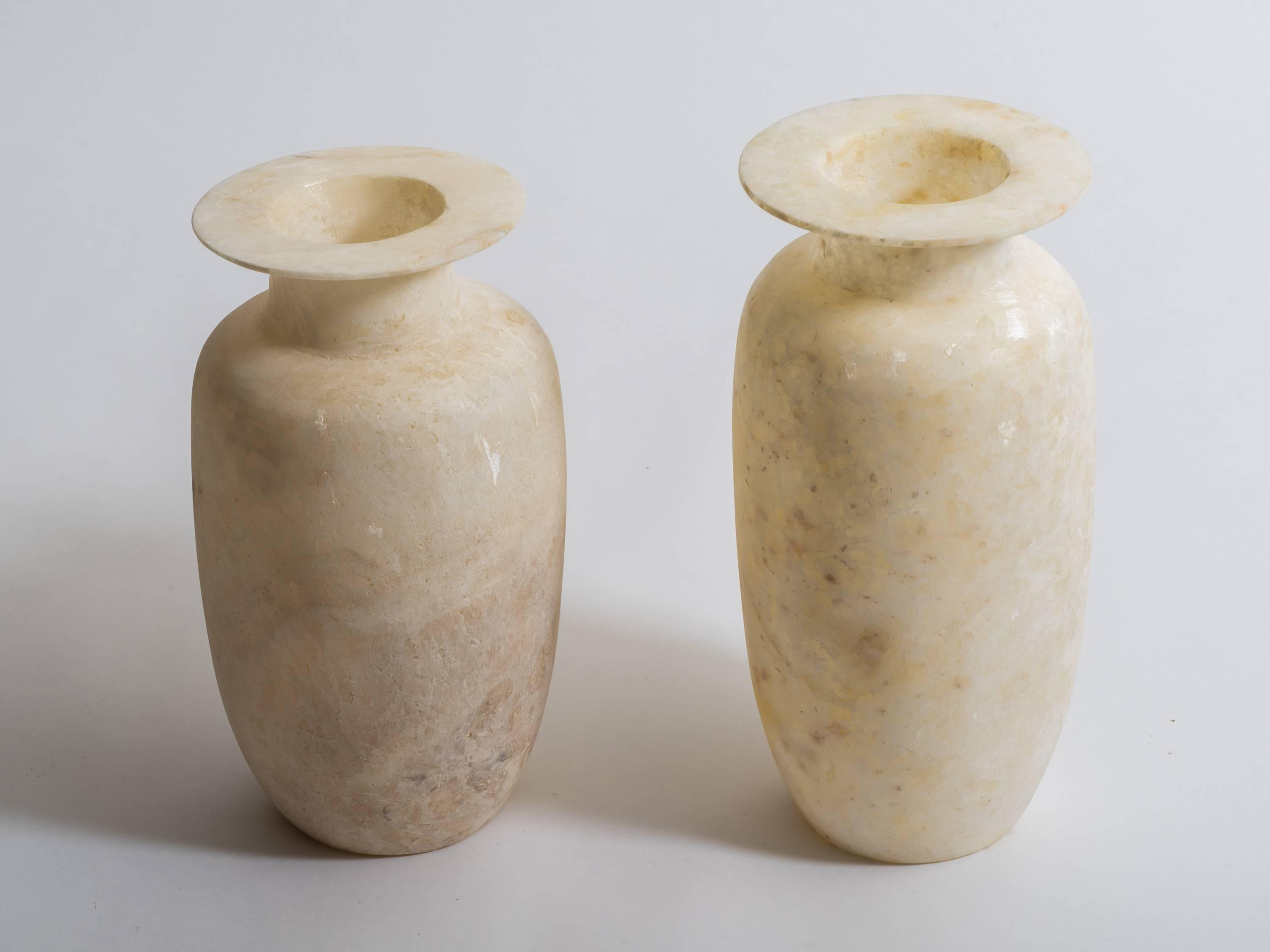21 Great Carved Alabaster Vase