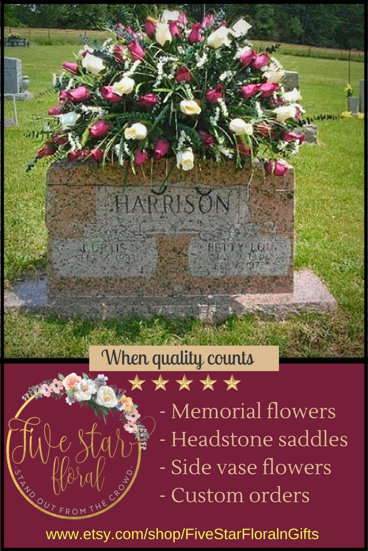 cemetery vase inserts of the 36 best decoration day flowers images on pinterest church intended for small medium and large headstone saddles and cemetery flower arrangements double stone saddles and side vase packages available