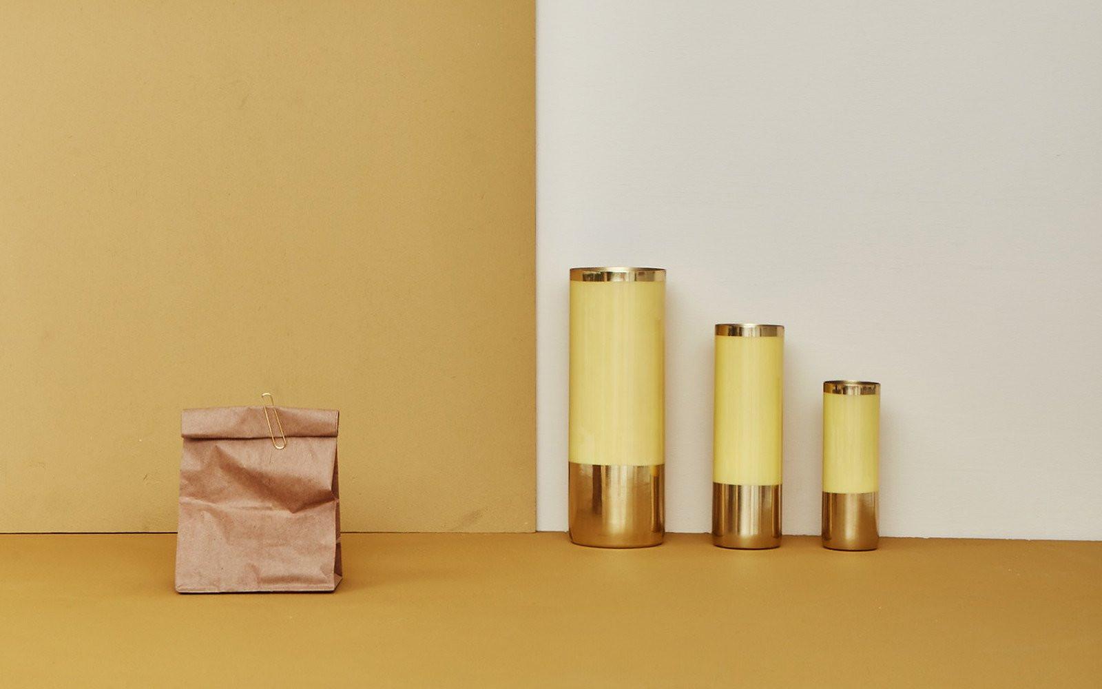 ceramic brown paper bag vase of hawkins new york intended for louise vases brass