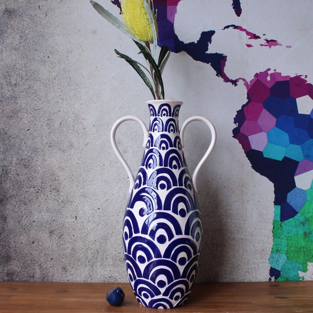 ceramic floor vase of coastal floor vases www topsimages com inside coastal blue ceramic urn floor vase flower pot home decor ornament jpg 1000x1000 coastal floor vases