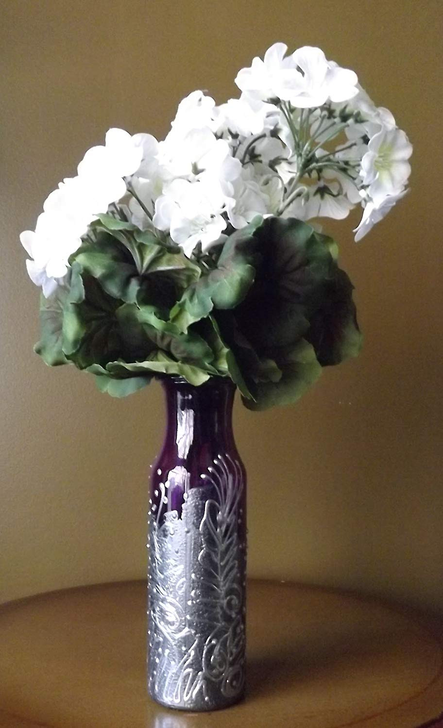 Ceramic Milk Jug Vase Of Amazon Com Silver and Purple Milk Bottle Vase Handmade with Regard to 8186od 8nxl Sl1500