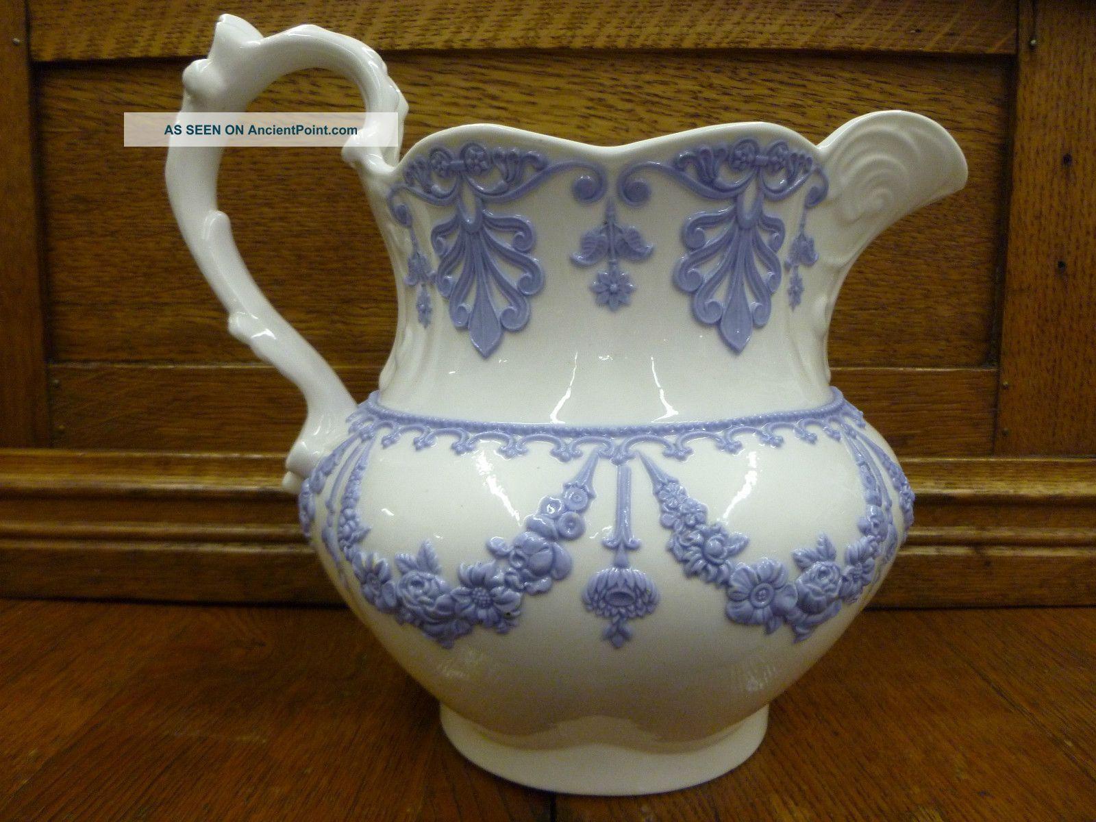 ceramic milk jug vase of antique milk or water pitchers antique blue white 1800 s water intended for antique milk or water pitchers antique blue white 1800 s water milk pitcher wedgwood ridgway