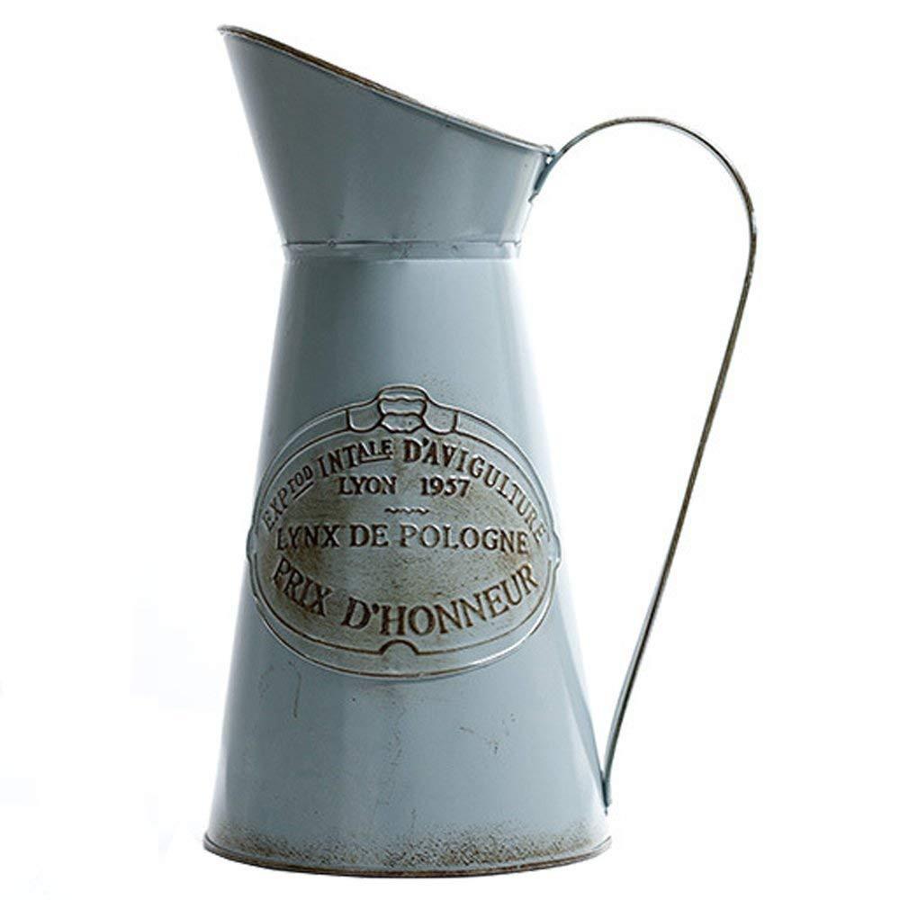 ceramic milk jug vase of hyfanstr french style rustic pitcher vase metal jug flower for home with hyfanstr french style rustic pitcher vase metal jug flower for home decor amazon co uk kitchen home