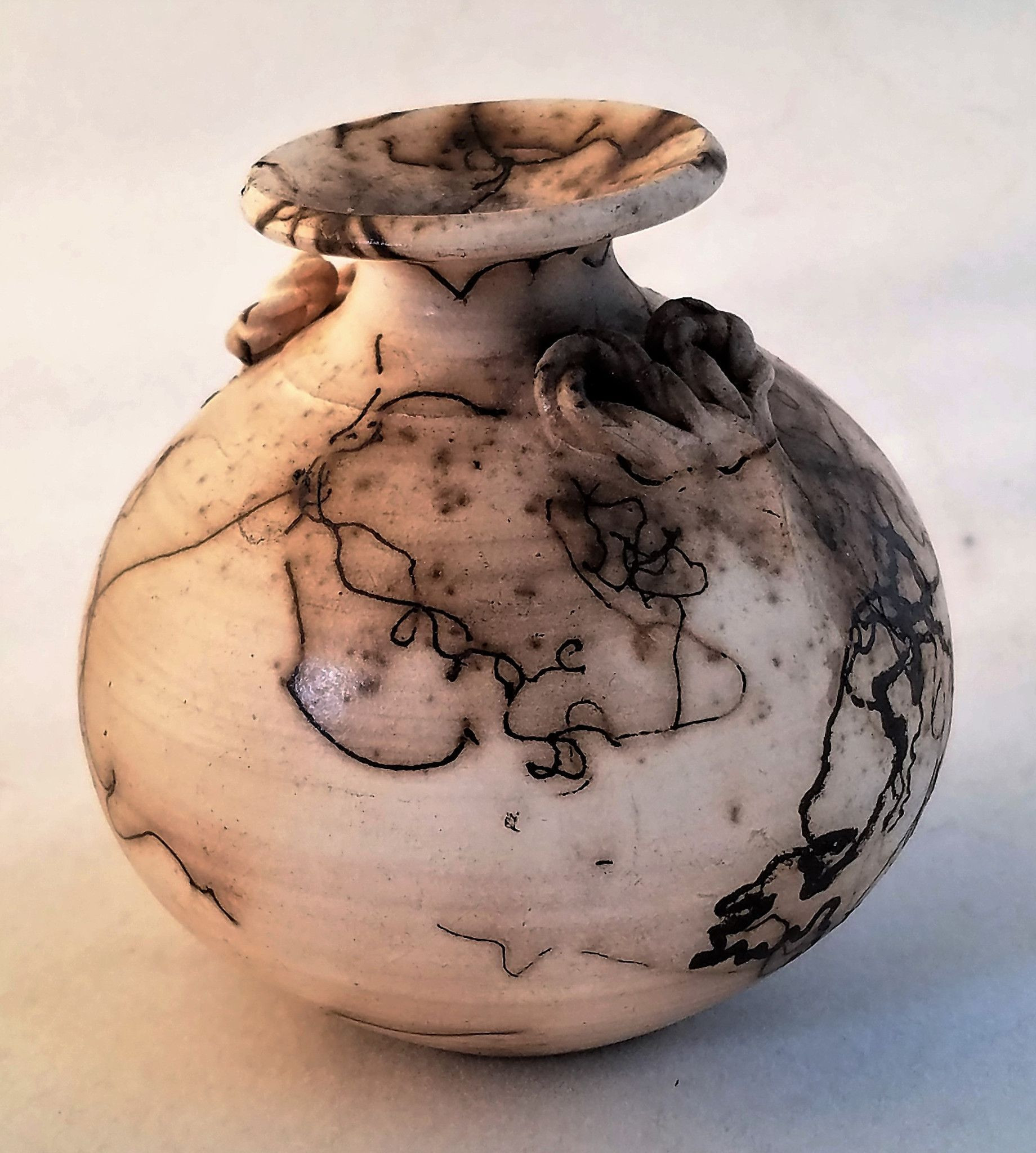 ceramic urns and vases of small horsehair vase with braided relief 3 1 2 horsehair and pottery throughout pottery