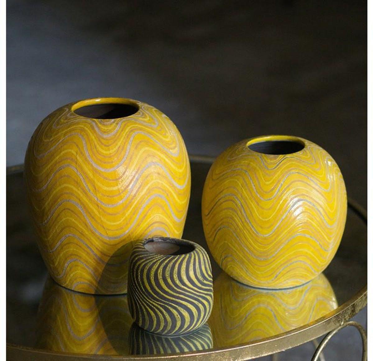 ceramic vase set of 3 of gold leaf design group sioux vase set of 3 modish store inside gold leaf design group sioux vase set of 3 vases gold leaf design group123