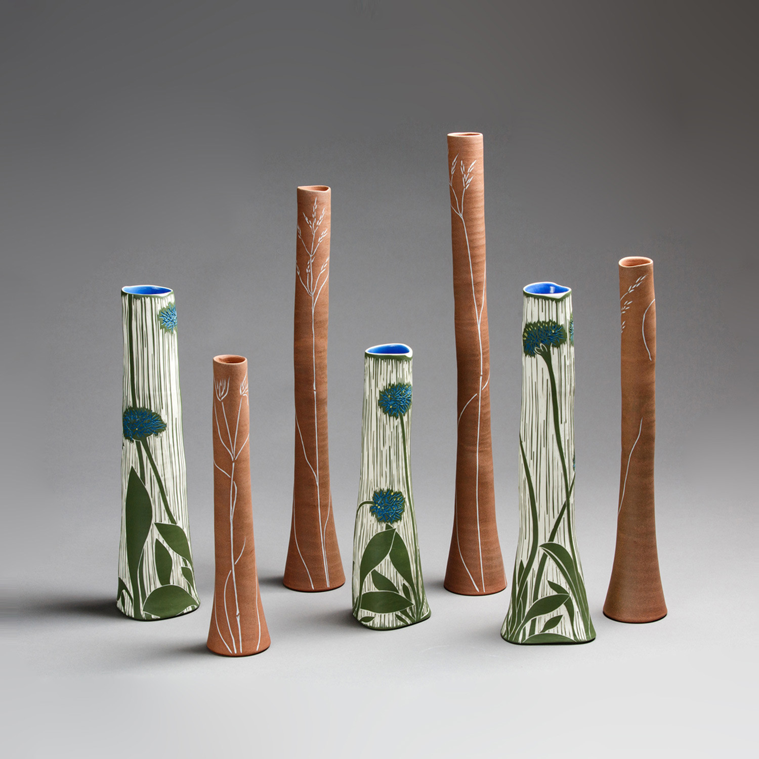 Ceramic Vase Set Of 3 Of something Blue Ceramic Masters Sabbia Gallery with Fra2 025 sold Grassland Blue