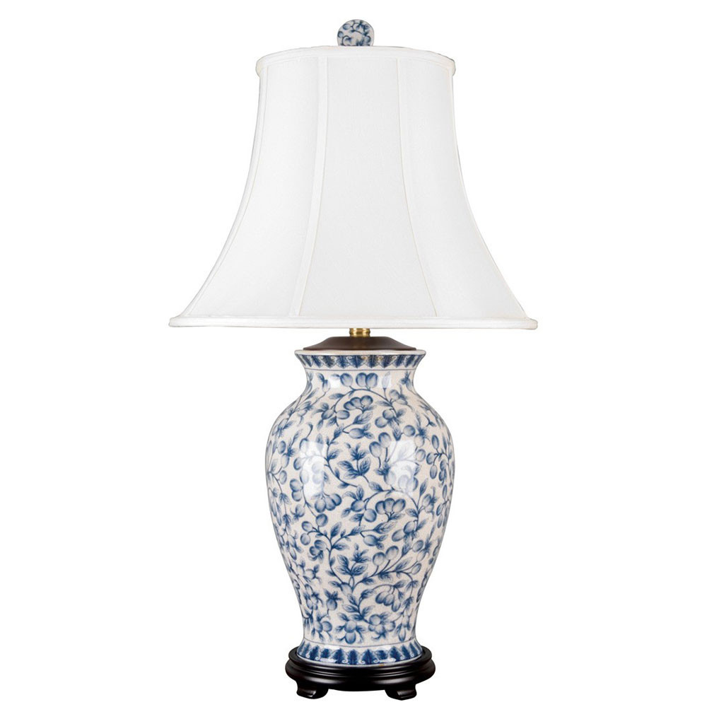 Ceramic Vase Table Lamps Of Porcelain Vase Lamp Blue White Filigree Brass Burl 14053 L Intended for Od 14053 L 1