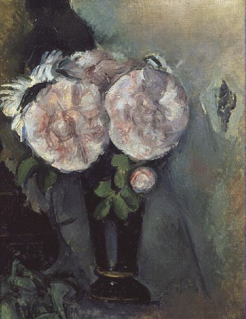 cezanne blue vase of flowers in a blue vase posters prints by paul cezanne intended for detail of flowers in a blue vase by paul cezanne