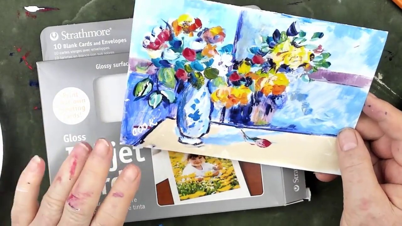 Cezanne Blue Vase Of How to Use Acrylics as Watercolors to Paint Flowers In A Vase by Pertaining to How to Use Acrylics as Watercolors to Paint Flowers In A Vase by Cezanne On A Card
