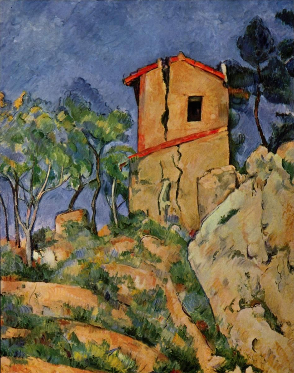cezanne blue vase of the house with the cracked walls artist paul cezanne start date regarding the house with the cracked walls artist paul cezanne start date 1892 completion date1894 style post impressionism period final period genre landscape