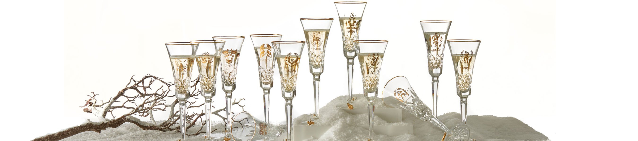 champagne flutes with vase holder of waterford 12 days of christmas collection waterforda us inside waterford 12 days of christmas collection
