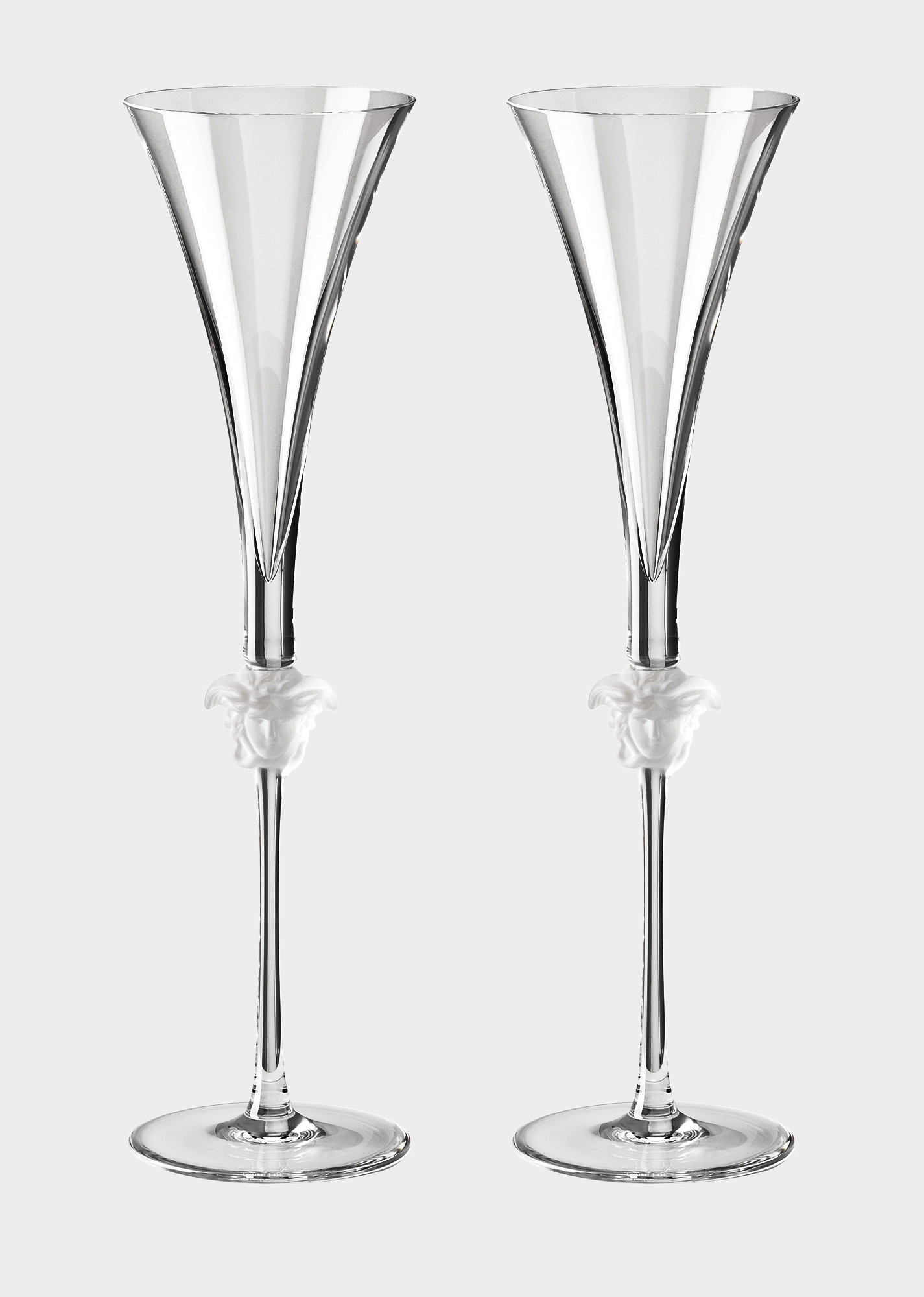 Champagne Glass Vases wholesale Of Versace Home Luxury Glass Crystal Official Website Regarding 90 N48804 N110835 N2066 20 Medusalumieregb2champagneflute Glassandcrystal Versace Online Store 1 0