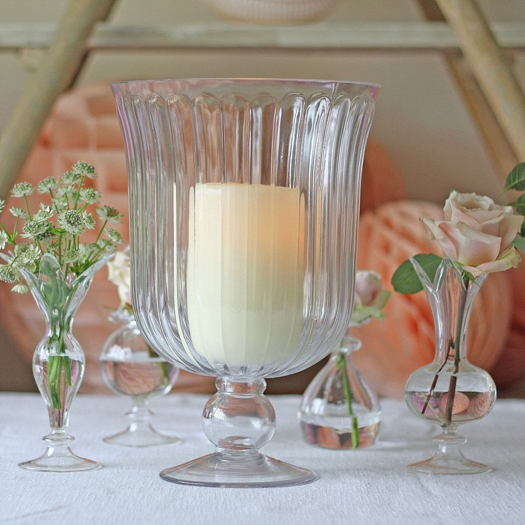 champagne hurricane vase of clear glass footed vase or hurricane lantern table decorations for clear glass footed vase or hurricane lantern