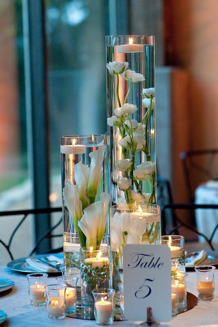 cheap 9 inch cylinder vase of 76 best centerpieces images on pinterest decorating ideas with regard to candle table centerpiece inspiration only glue fake flowers to the bottom of a tall vase or to stones you could drop in fill with water and top with a