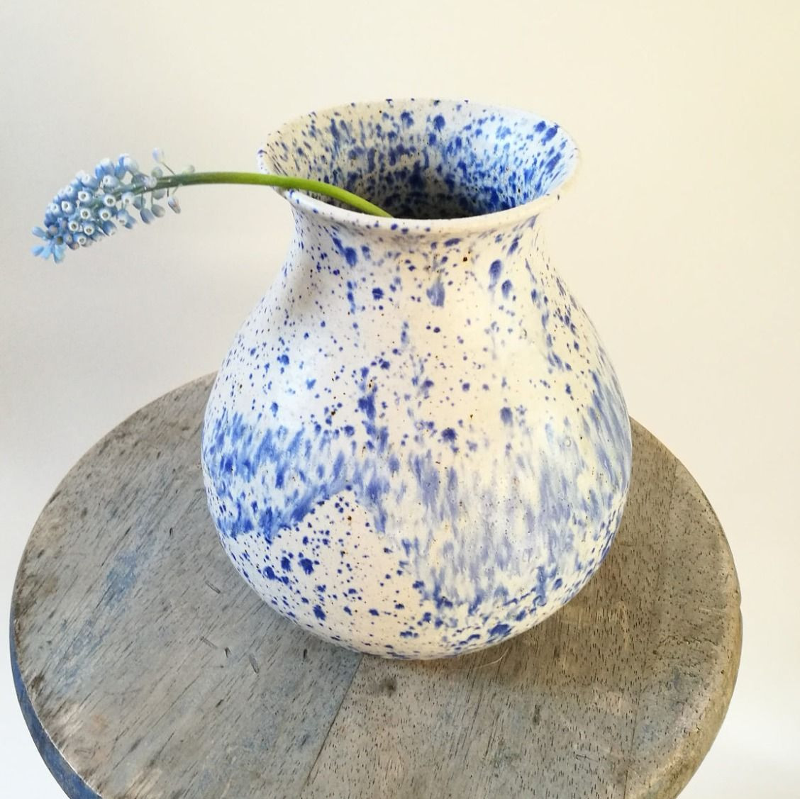 cheap ceramic vases of vintage vase blue speckled german pottery vase midcentury intended for vintage vase blue speckled german pottery vase midcentury ceramic flower expressionism indigo
