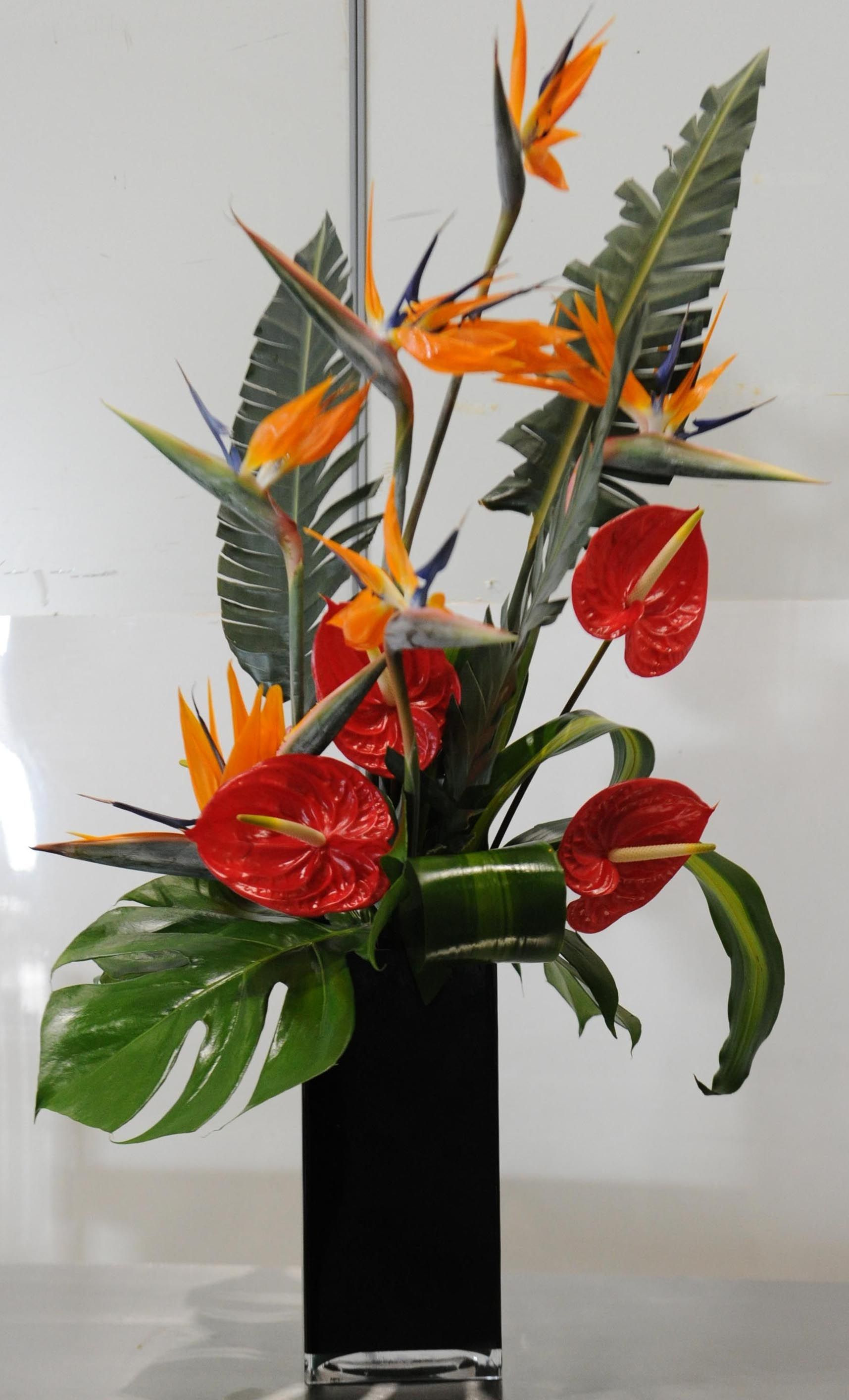 cheap ikebana vases of 60 od bird of paradise red anthurium mixed foliage misc throughout 60 od bird of paradise red anthurium mixed foliage