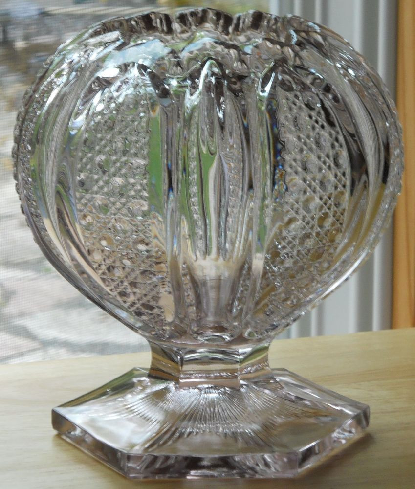 cheap rose bowl vases of eapg tuxedo pattern huge pedestal rose bowl made by fostoria glass with eapg tuxedo pattern huge pedestal rose bowl made by fostoria glass sun purple 6 23d x 6 75h 3opening 5 base d point to point