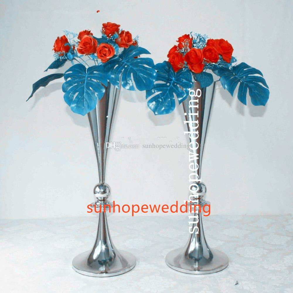 cheap tall trumpet vases of wedding centerpieces vase gold wedding vased plated trumpet tall inside wedding centerpieces vase gold wedding vased plated trumpet tall centerpieces for event decor party birthday decorations party birthday supplies from