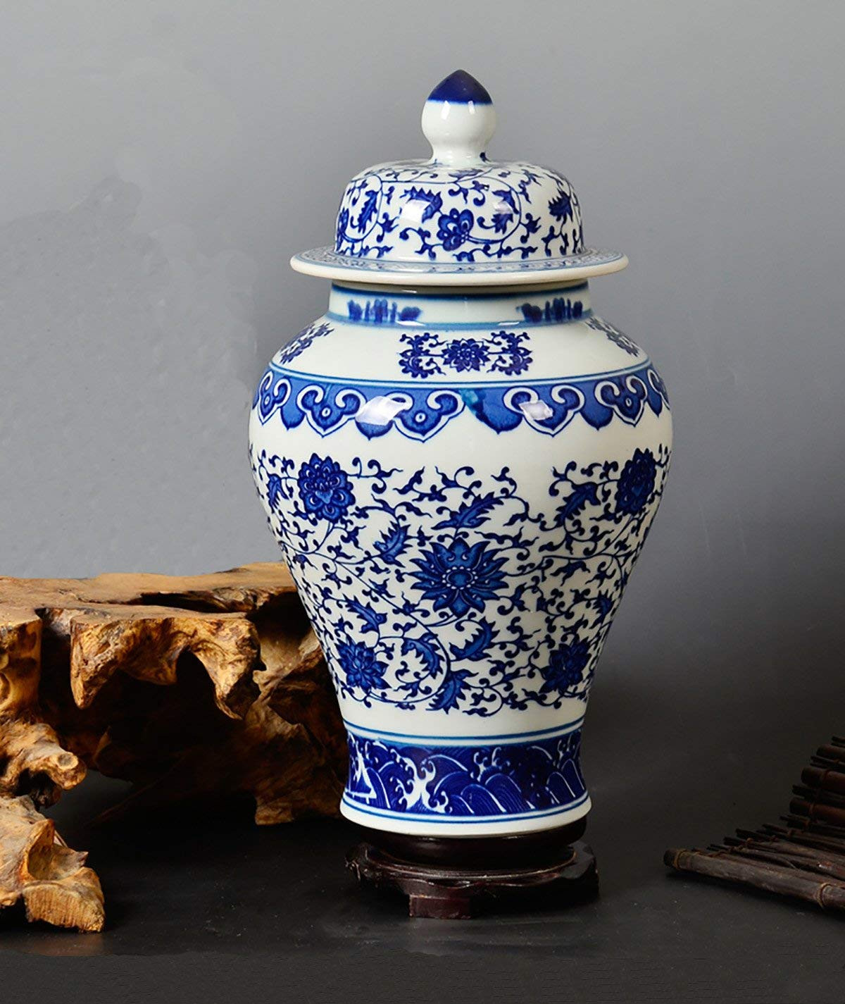 chinese blue porcelain vases of amazon com all decor blue and white ceramic urn fine chinese with regard to amazon com all decor blue and white ceramic urn fine chinese porcelain temple spic