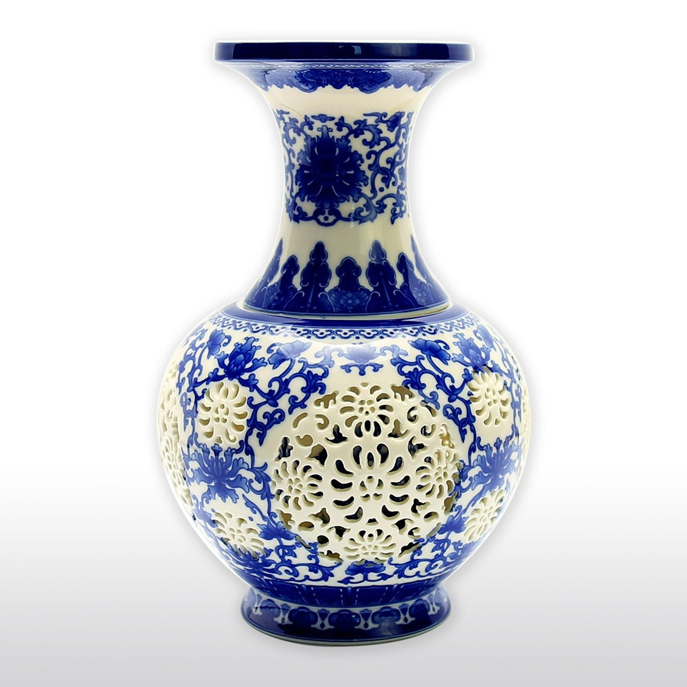 chinese blue porcelain vases of blue and white porcelain chinese classic vase with birds and flowers intended for vases jars chinese blue and white porcelain vase with decorative hollow carvings by x chinese blue
