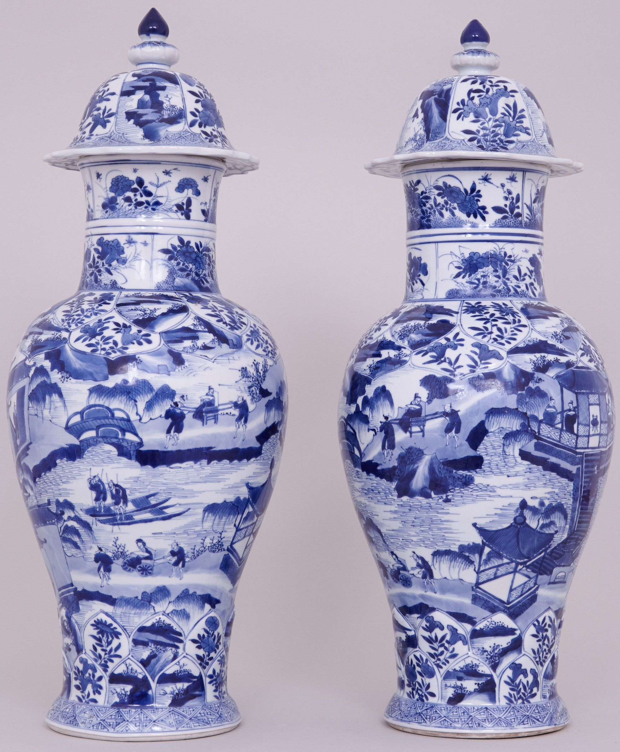 chinese blue white vase of a pair of highly unusual tall and fine chinese blue and white vases pertaining to a pair of highly unusual tall and fine chinese blue and white vases and covers