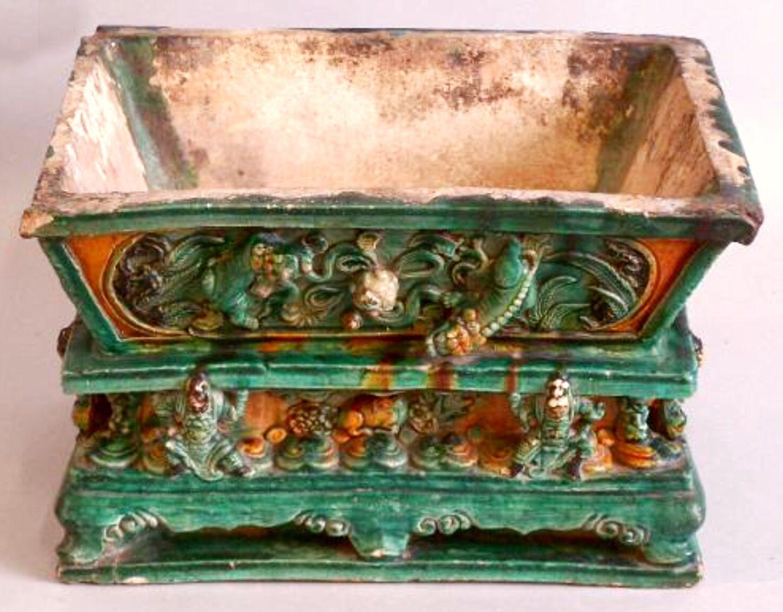 chinese bronze vase shapes of chinese ming dynasty pottery bonsai planter in sancai glaze throughout chinese ming dynasty pottery bonsai planter in sancai glaze