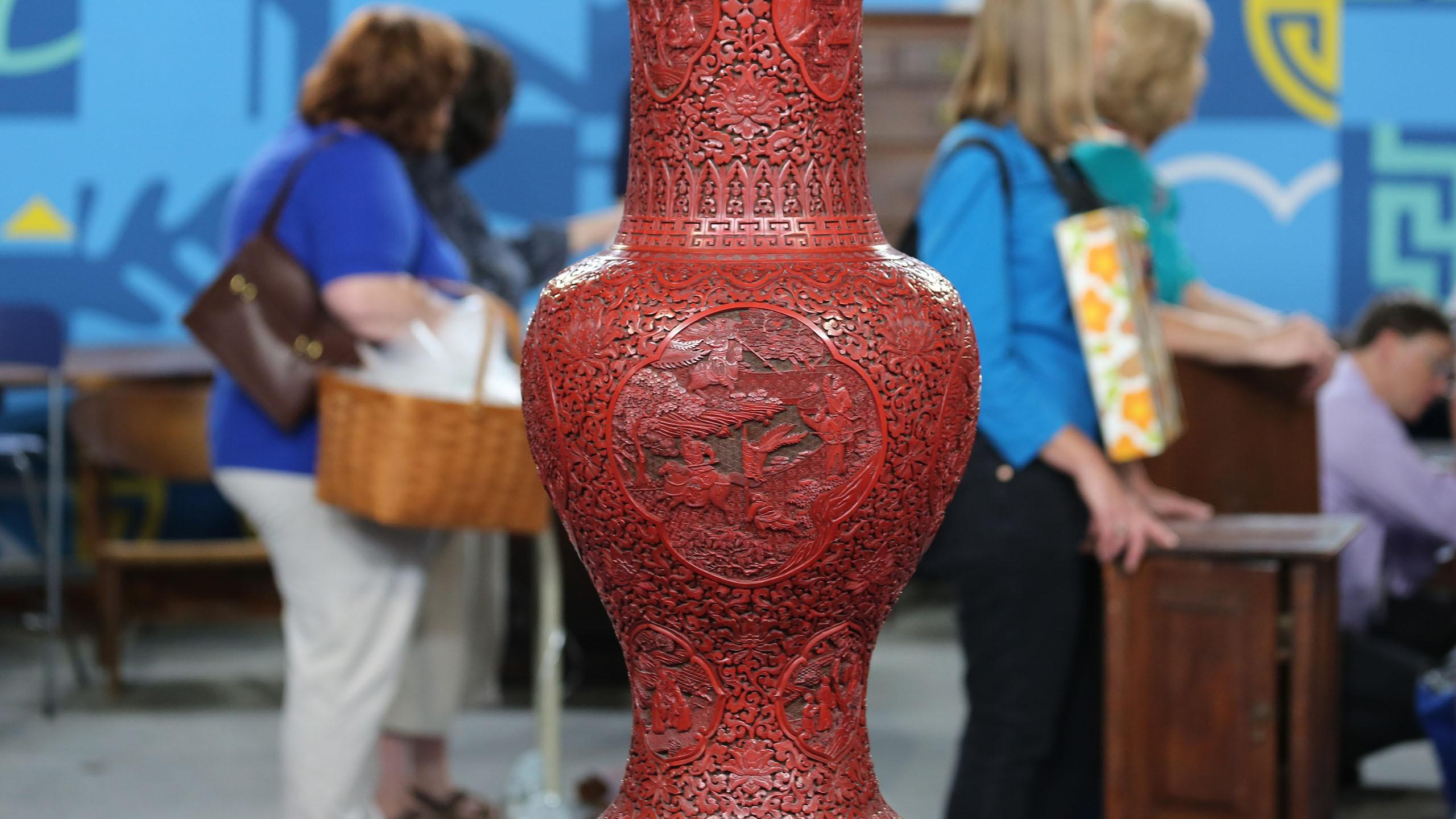 chinese cinnabar lacquer vase of antiques roadshow appraisal charles heinie wagner red sox for appraisal chinese cinnabar lacquer vase ca 1825