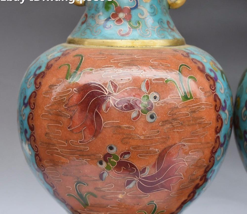 chinese cloisonne enamel vase of aliexpress com kup chinese cloisonne enamel gilt goldfish fish for aliexpress com kup chinese cloisonne enamel gilt goldfish fish dragon handle vase bottle pot pair od zaufanych dostawca³w statues sculptures na collect