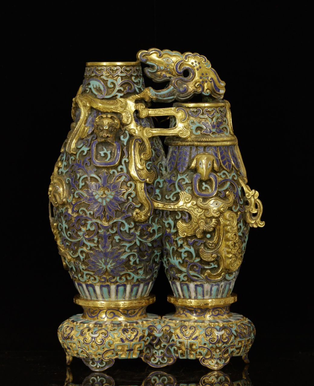 chinese cloisonne vase marks of lot 239 s54 chinese enameled double vase w mark est 10000 pertaining to lot 239 s54 chinese enameled double vase w mark est 10000 15000
