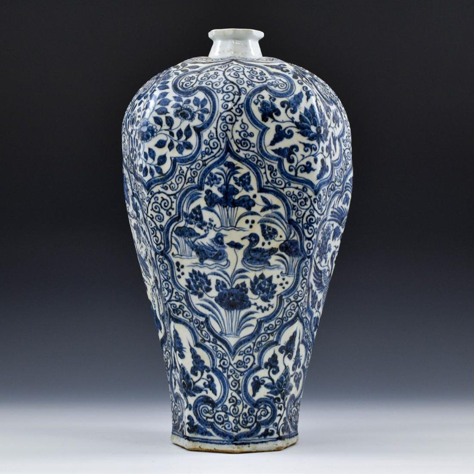 chinese meiping vase of ming dynasty blue and white octagonal meiping vase on chinese with ming dynasty blue and white octagonal meiping vase