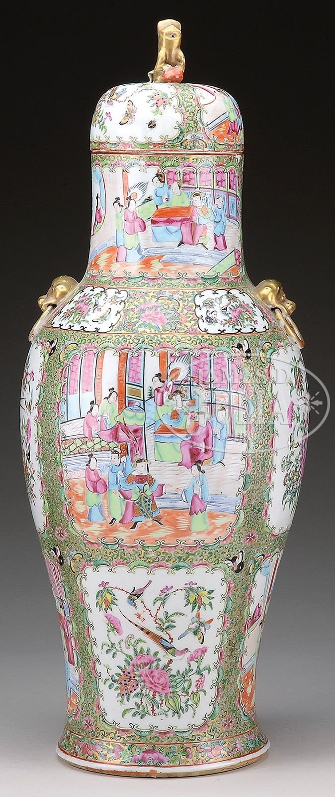 chinese rose medallion vase of large rose medallion covered vase china 19th century the vase with large rose medallion covered vase china 19th century the vase hand painted in