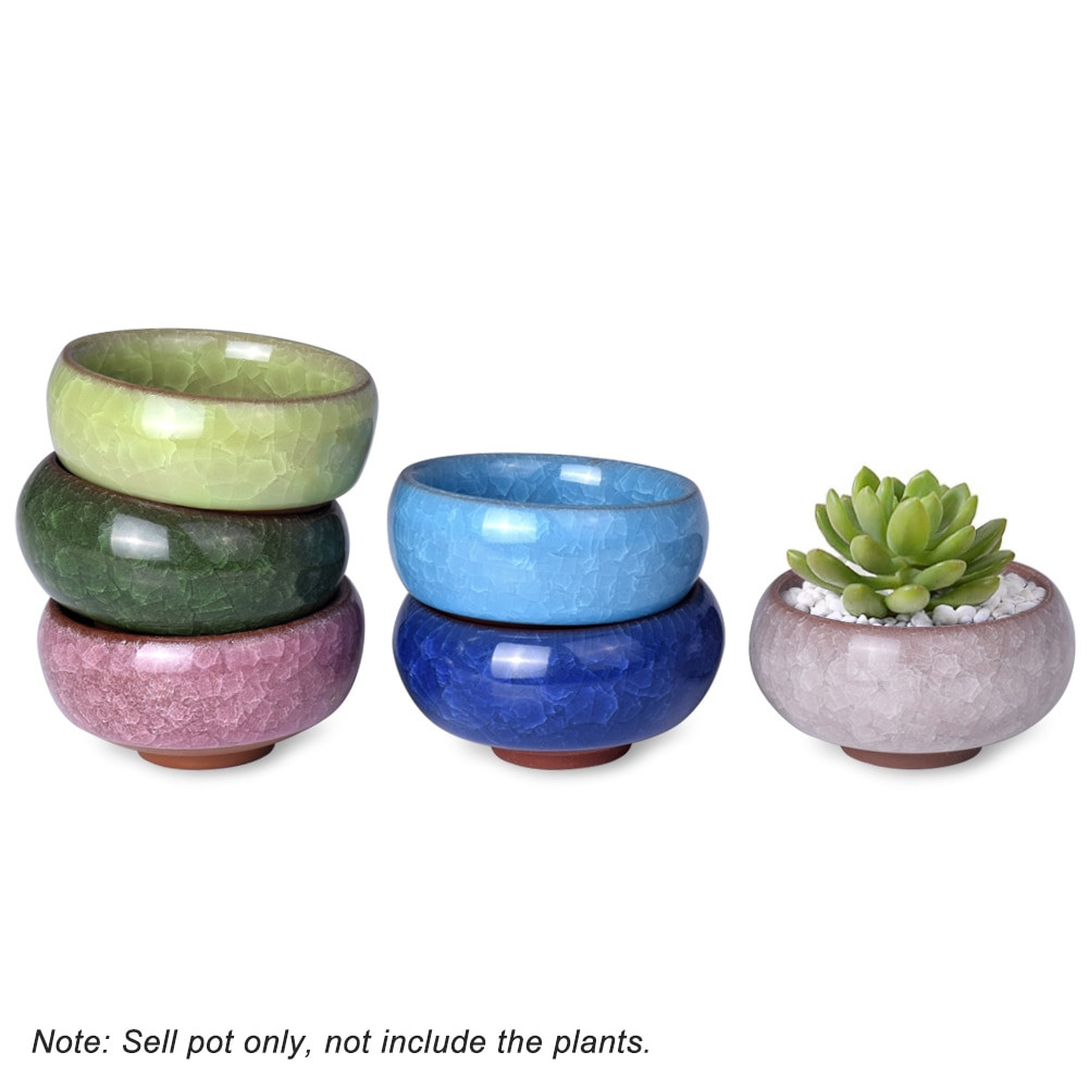 Chinese Style Vase Of Wituse Kawaii Flowerpot Chinese Ice Crack Style Ceramics Succulent within 1 X Plant Pot