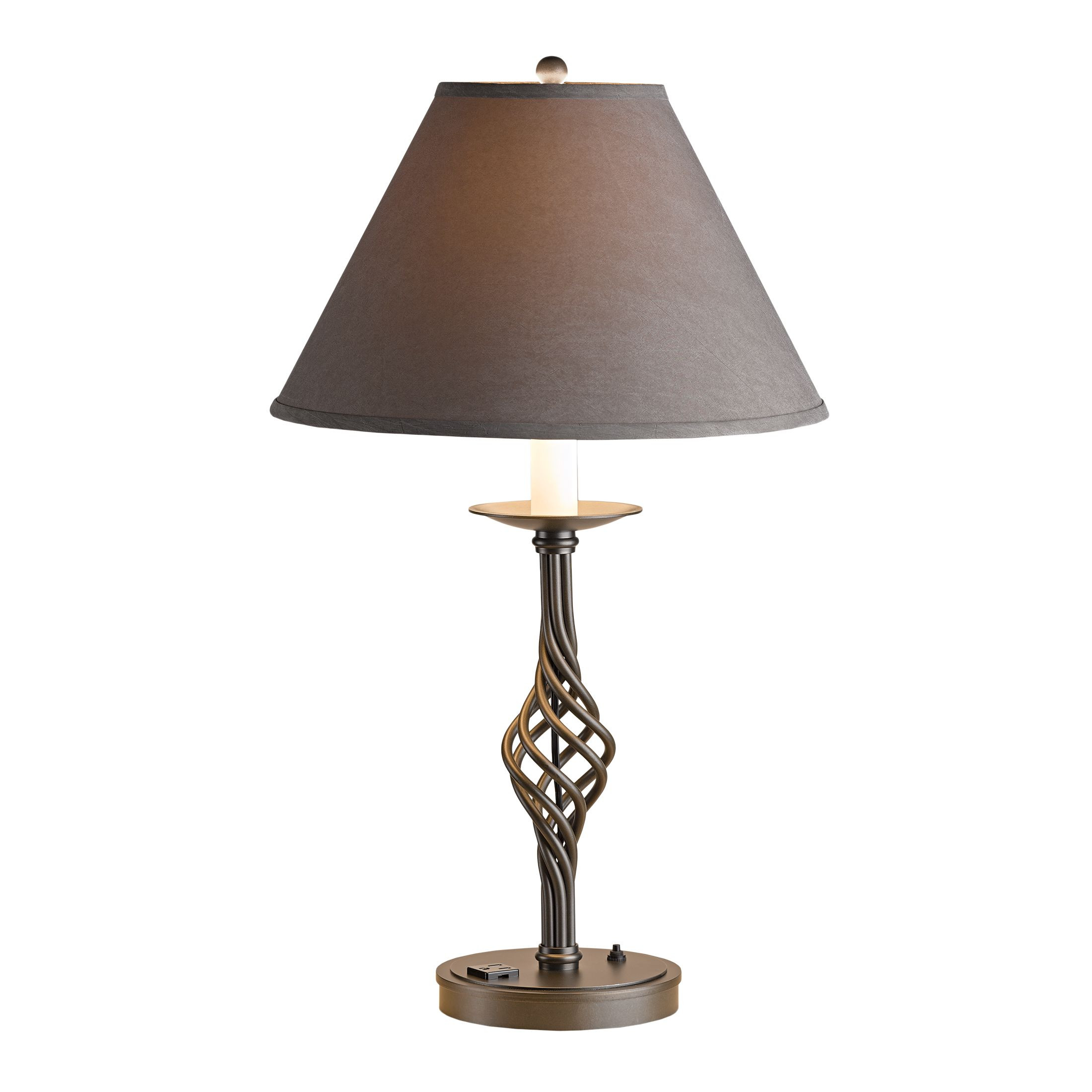 chinese vase lamp base of forged leaves and vase table lamp hubbardton forge intended for thumbnail for twist basket large table lamp